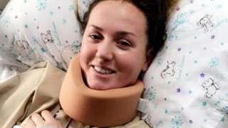Sophie in hospital