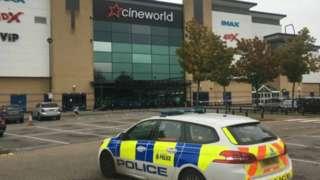 Police car at Cineworld Sheffield
