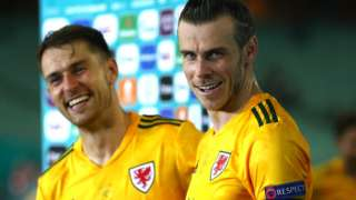 Wales' Gareth Bale (right) and Aaron Ramsey