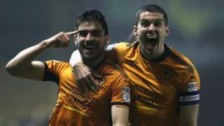 Ruben Neves and Conor Coady celebrate a Wolves goal