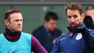 England captain Wayne Rooney and interim manager Gareth Southgate