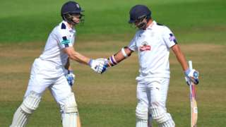 Jimmy Adams and Sean Ervine added a further 104 runs to their overnight partnership, of which it took just 145 to break Hampshire's fourth-wicket record