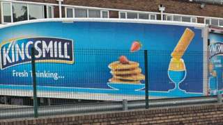 Kingsmill lorry in Cardiff