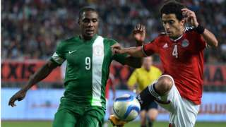 Ighalo and Egyptian player, Omar Gaber