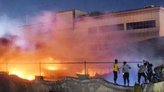 Fire at Nasiriya hospital, Iraq (12 July)