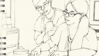 Prof Dunlop sketch