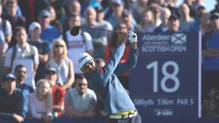 Rafa Cabrera Bello, winner of the Aberdeen Asset Management Scottish Open
