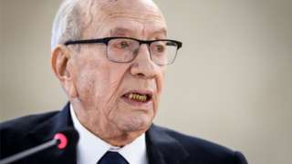 Tunisian President Beji Caid Essebsi for picture for February