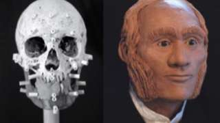 A facial reconstruction of an individual identified through DNA analysis as John Gregory