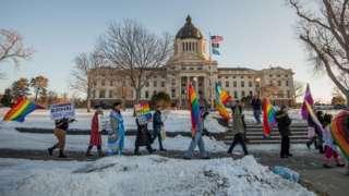 Protesto em Dakota do Sul