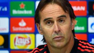 Real Madrid coach Julen Lopetegui
