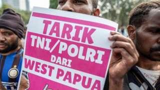 Unjuk rasa penarikan TNI/Polisi dari Papua