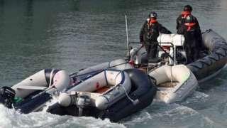 Border control boat in Dover