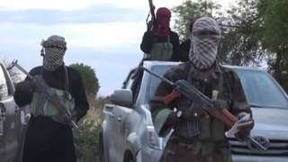 A grab taken from a video posted on YouTube on June 2, 2015 by Boko Haram