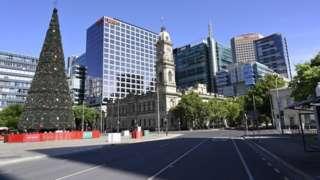 Calle vacía en Adelaide