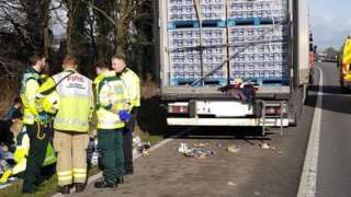 Paramedics outside the truck
