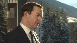 George Osborne at Davos