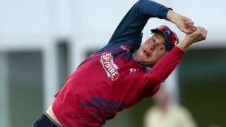 Alex Blake of Kent drops a catch