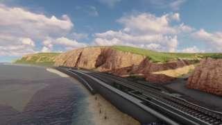 Dawlish rail line plans. Pic: Network Rail