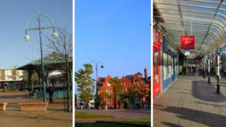 Kirkby, St Helens and Southport town centres
