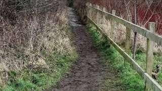 Footpath near Priorpot Beck
