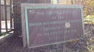 نیویارک سٹی میں یہودیوں کے پہلے قبرستان کی تختی