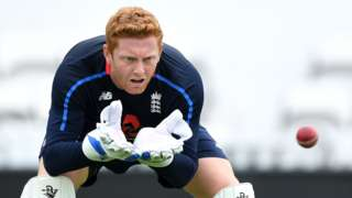 Jonny Bairstow at England nets