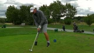 Paul on golf course