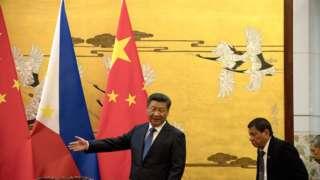 Председатель КНР Си Цзиньпин и президент Филиппин Родриго Дутерте