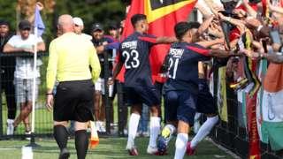 East Timor celebrate
