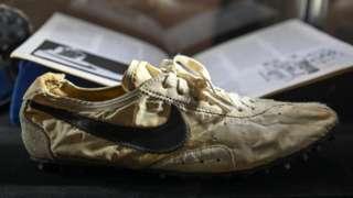 Nike Waffle Racing Flat Moon Shoe, de 1972.
