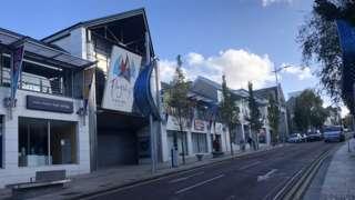 Empty retail units in Bangor