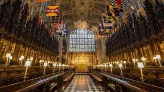 Interior da Capela de São Jorge, no Castelo de Windsor