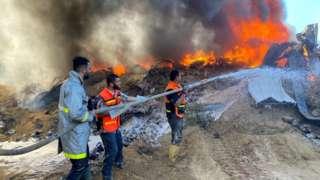 یک انبار در گذرگاه مرزی رفح از جمله اهدافی بود که اسراییل به آن حمله کرد