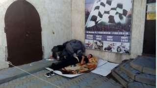 Палаточный лагерь узбекских мигрантов под Ростовом-на-Дону