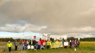 Findhorn Protest