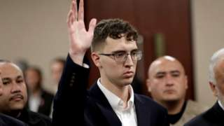 El Paso Walmart mass shooter Patrick Crusius, a 21-year-old male from Allen, Texas, accused of killing 22 is arraigned, in El Paso, Texas
