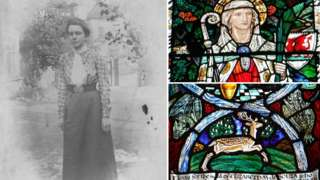 Margaret Rope and some of her stained glass windows