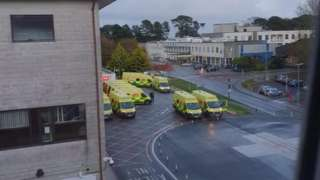 Ambulances outside RCHT