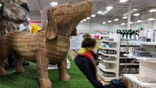 A wicker sausage dog ornament on sale in The Range