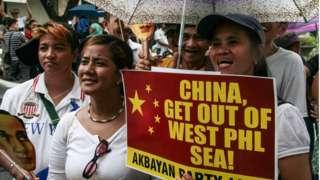 Một cuộc biểu tình phản đối Trung Quốc của người Philippines