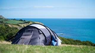 Camping on the Dorset coast - generic