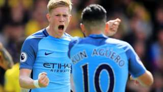 City celebrate Watford win