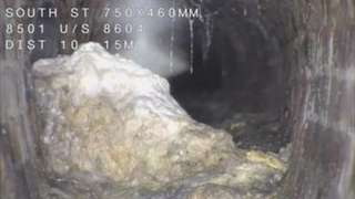 Fatberg in South Street in St Andrews