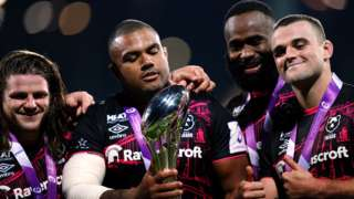Bristol players with the European Challenge Cup