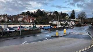 Car park on Queen's Road, Newton Abott
