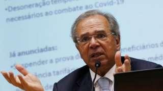 Paulo Guedes em coletiva de imprensa