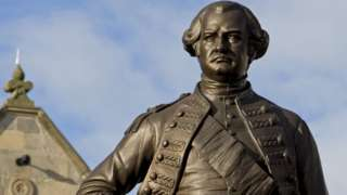 The Robert Clive statue in Shrewsbury