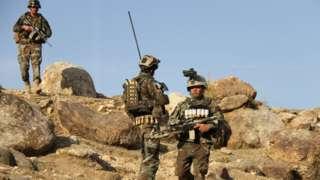 американские и афганские военные