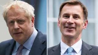 Boris Johnson a Jeremy Hunt